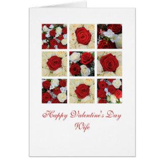 Cartão Rosas   do feliz dia dos namorados da esposa