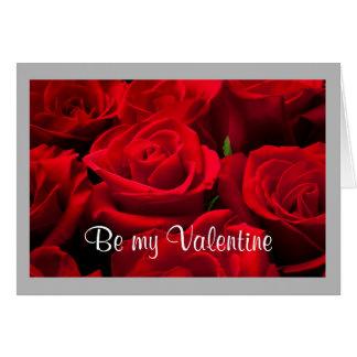 Cartão Rosas vermelhas clássicas dos namorados 25