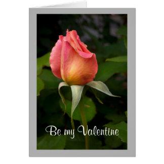 Cartão Rosebud cor-de-rosa dos namorados 10