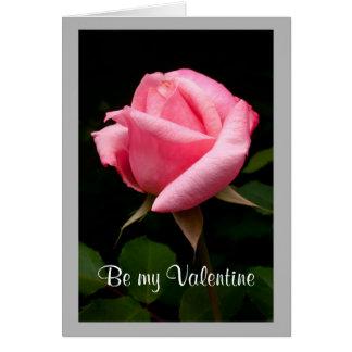 Cartão Rosebud cor-de-rosa dos namorados 12