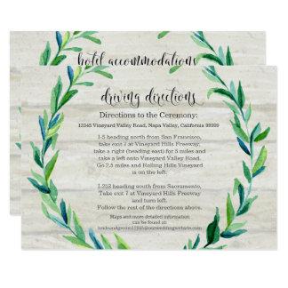 Cartão Roteiro da madeira da folha do louro dos sentidos