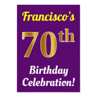 Cartão Roxo, celebração do aniversário do 70 do ouro do