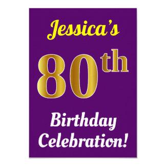 Cartão Roxo, celebração do aniversário do 80 do ouro do