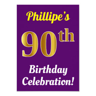 Cartão Roxo, celebração do aniversário do 90 do ouro do