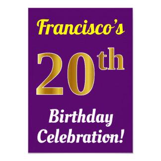 Cartão Roxo, celebração do aniversário do ouro do falso