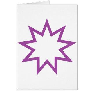Cartão Roxo da estrela de Bahai