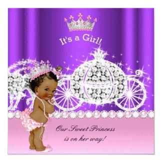Cartão Roxo étnico do rosa da carruagem da princesa chá