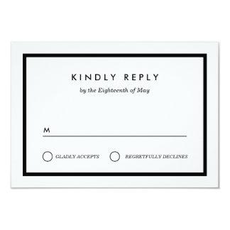 Cartão RSVP Wedding minimalista