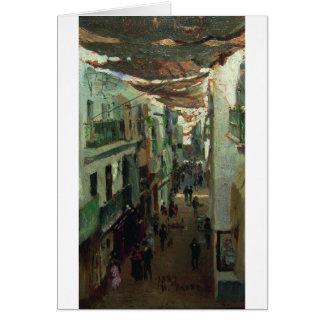 Cartão Rua dos cobras em Sevilha por Ilya Repin