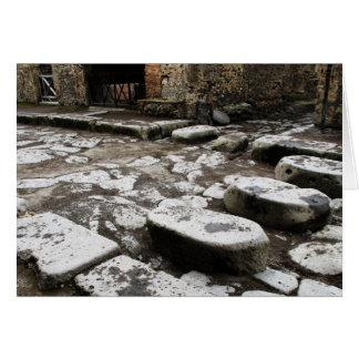 Cartão Rua em Pompeii - pedras na rua