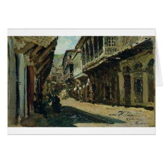 Cartão Rua em Tiflis por Ilya Repin