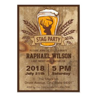Cartão rústico do despedida de solteiro da cerveja convite 12.7 x 17.78cm