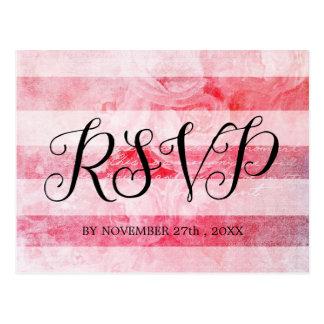Cartão rústico do rosa velho cor-de-rosa romântico