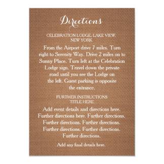 Cartão rústico dos sentidos do casamento de