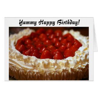 Cartão saboroso do feliz aniversario