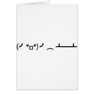 Cartão Sacudir da mesa que lança o Emoticon do ASCII