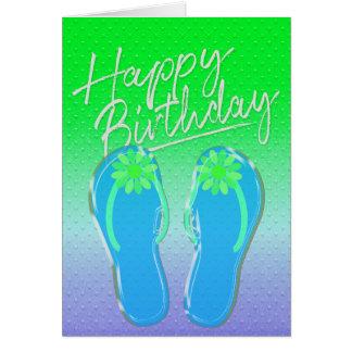 Cartão sacudir-sacudir do aniversário