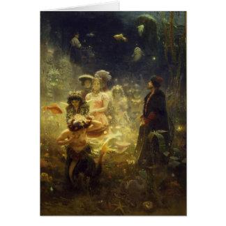 Cartão Sadko na sereia subaquática de Ilya Repin do reino