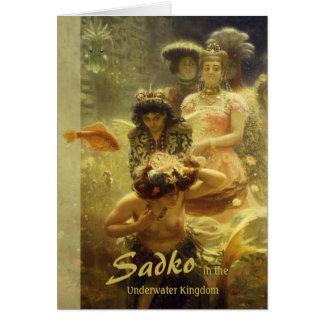 Cartão Sadko no reino subaquático CC0857 Ilya Repin