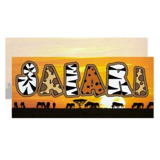 Cartão Safari do por do sol de Tanzânia