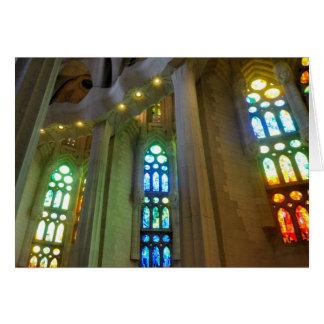 Cartão Sagrada Familia. Interior