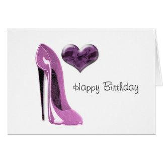 Cartão Salto alto dos calçados do estilete do Mulberry e