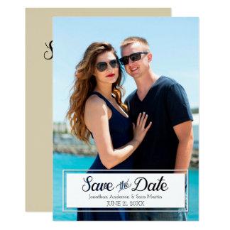 Cartão Salvar a foto cortada data do vertical do texto