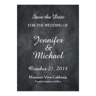 Cartão Salvar o clássico cinzento da escrita do casamento