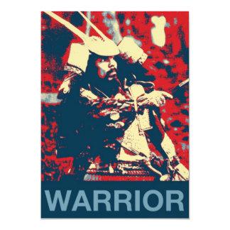 Cartão Samurai japonês do guerreiro do bushido das artes