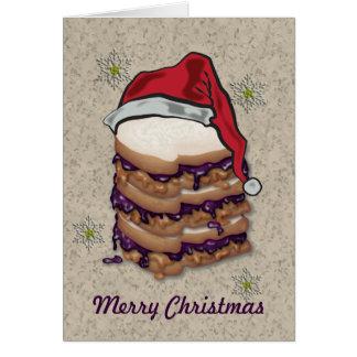 Cartão Sanduíches da manteiga e da geléia de amendoim do