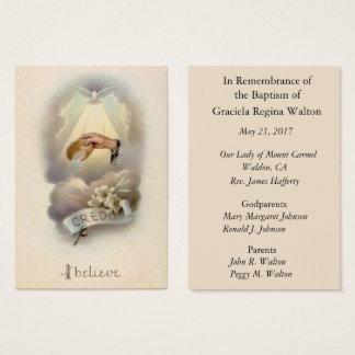 Cartão santamente da relembrança baptismal