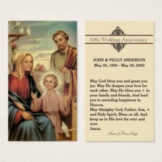 Cartão santamente & oração da relembrança do