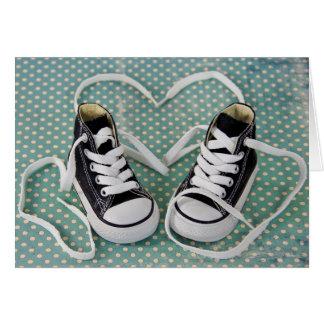 Cartão Sapatilhas do bebé