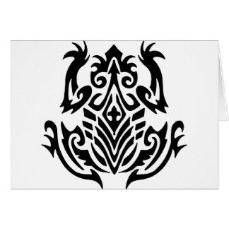Cartão Sapo tribal do tatuagem