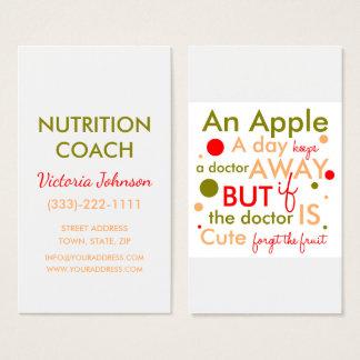 Cartão saudável do design de texto da vida do