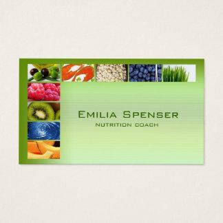 Cartão saudável verde Pastel da vida/nutricionista