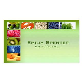 Cartão saudável verde Pastel da vida/nutricionista Cartão De Visita