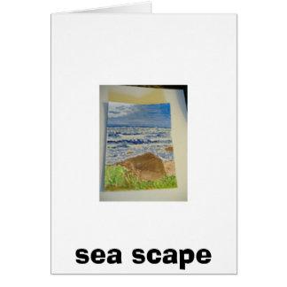 Cartão scape do mar