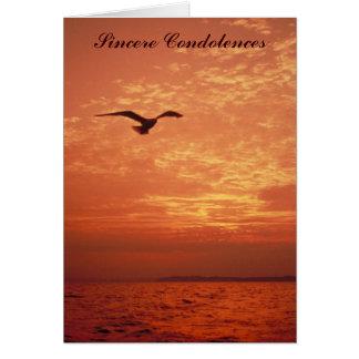 Cartão Seascape cénico, pêsames sinceros