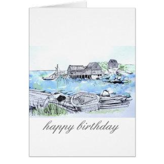 Cartão seascape do feliz aniversario