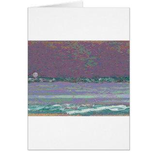 Cartão Seascape do Moonrise