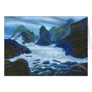 Cartão Seascape rochoso