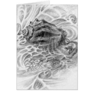 Cartão Seasheel com o companheiro desonesto do reptilian