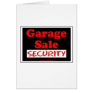 Cartão Segurança da venda de garagem