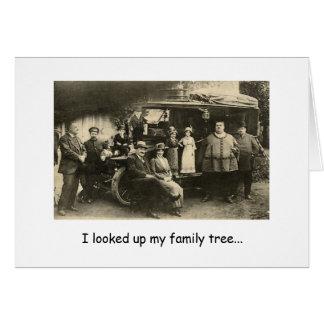 Cartão Seiva da árvore genealógica