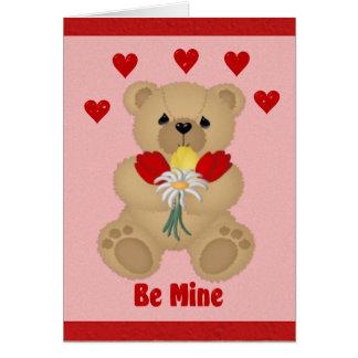 Cartão Seja meu urso