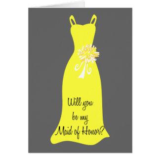 Cartão Seja minha madrinha de casamento?
