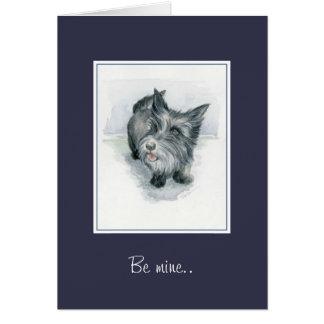 Cartão Seja monte de pedras Terrier dos namorados da mina