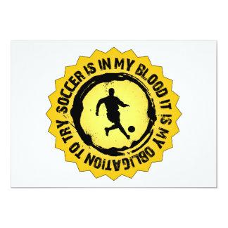 Cartão Selo fantástico do futebol