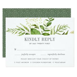 Cartão selvagem do prado RSVP com escolhas da